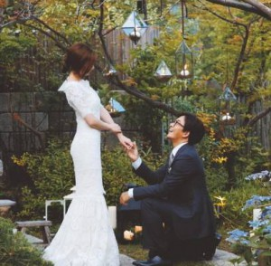 Bae yong joon and park soo jin wedding